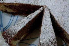 Torta bicolore alla nutella