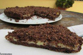 sbriciolata al cacao e crema pasticcera