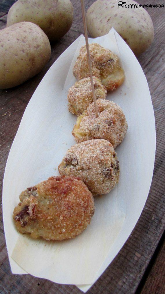 polpette di patate con carne macinata